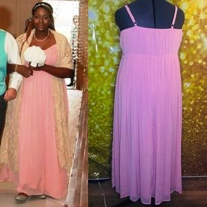0975deac6e5 torrid Dresses - Torrid blush pleat   eyelet chiffon maxi dress